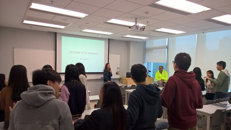 """Ms Kwok gives a talk on """"Get Ready to the Workplace"""""""