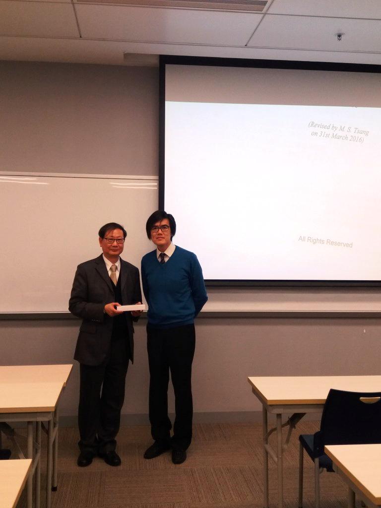 曾文生先生(左)與翻譯文學碩士(商務與法律)課程總監李劍雄博士